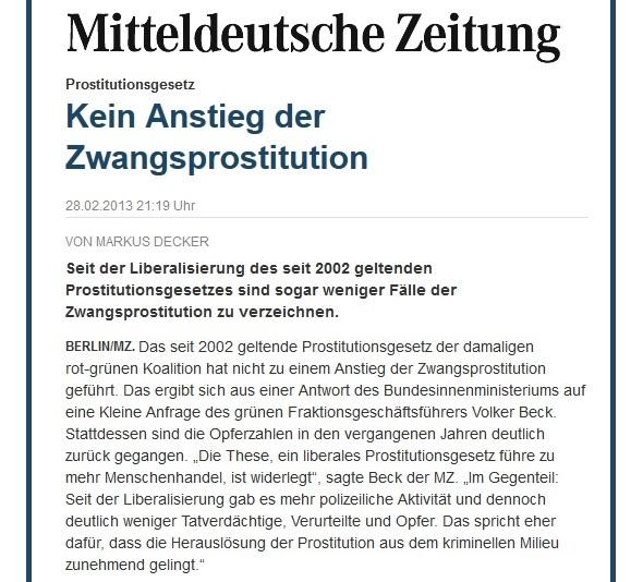 MZ - Prostitutionsgesetz